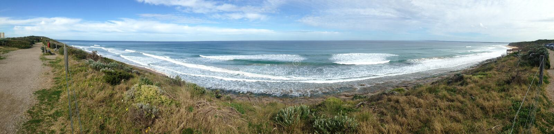 Treizième panorama de bluff de plage photos stock
