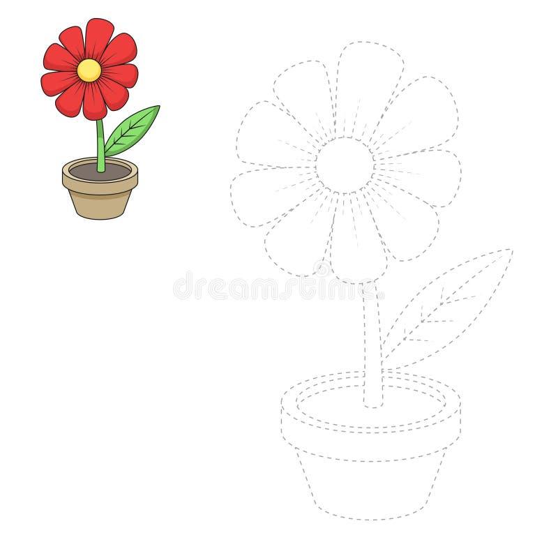 Trek bloem vectorillustratie royalty-vrije illustratie