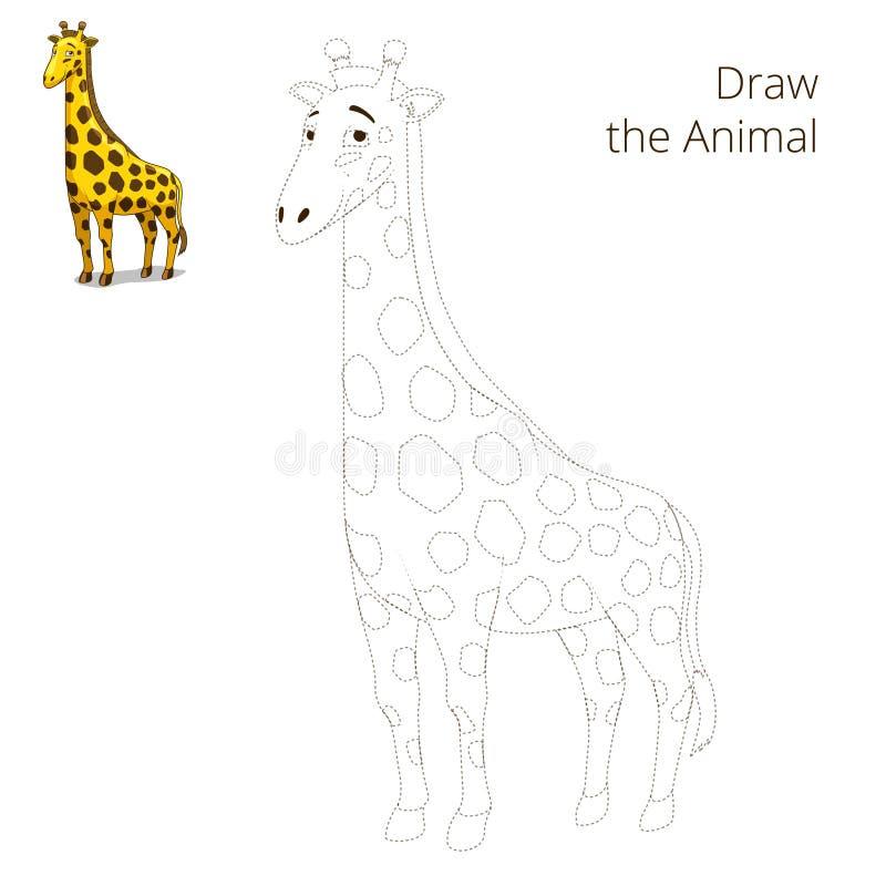 Trek de dierlijke onderwijsspelgiraf vector illustratie
