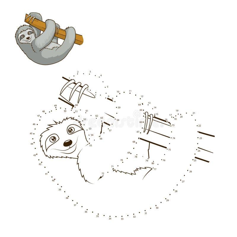 Trek de dierlijke vector van het stieren onderwijsspel stock illustratie