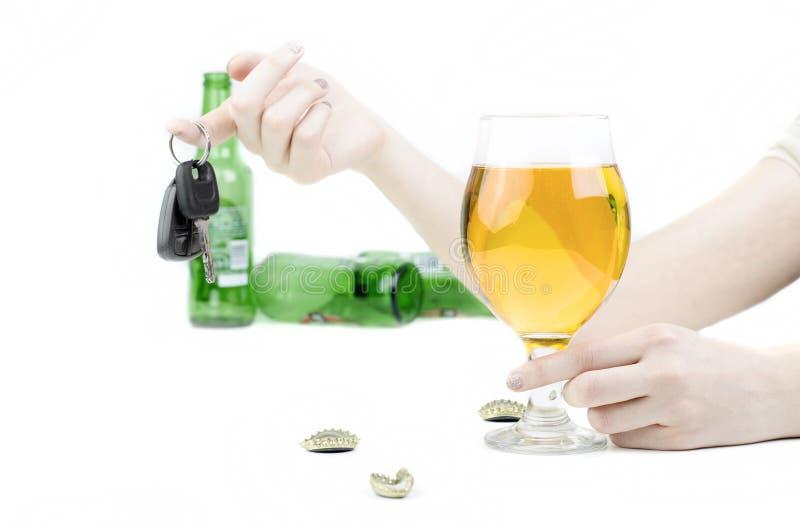 Trek de Drank en de Aandrijvingsconcept aan van ` t royalty-vrije stock foto