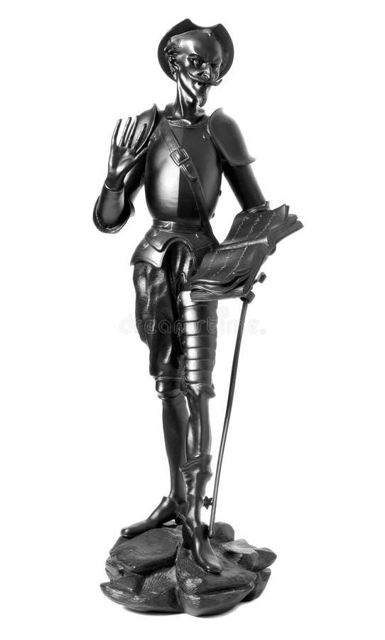 Trek Don Quichot aan royalty-vrije stock afbeeldingen