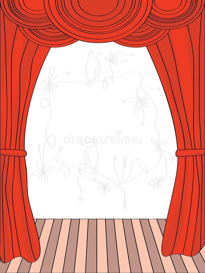 Trek Gordijn royalty-vrije illustratie
