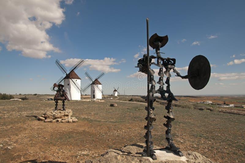 Trek Quijote en Sancho aan royalty-vrije stock fotografie