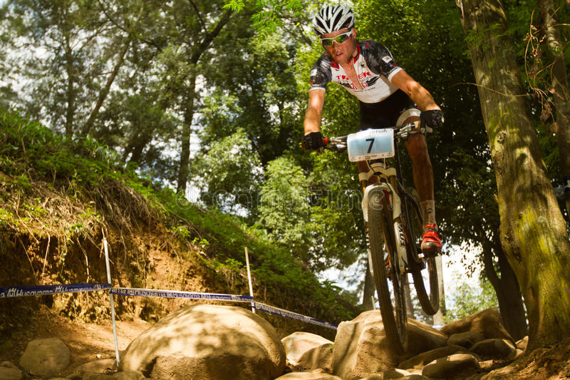 TREK Racing Rider  At Momentum Health Int Editorial Photography