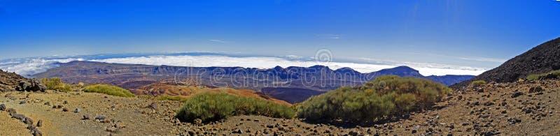 Trek rond Tede-vulkaan in de middag royalty-vrije stock foto's
