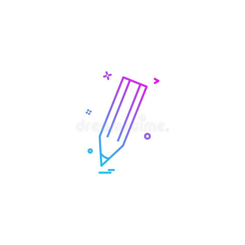trek uitgeven penpotlood schrijven pictogramvector desige stock illustratie