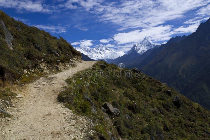 Trek van het de basiskamp van Everest stock afbeelding