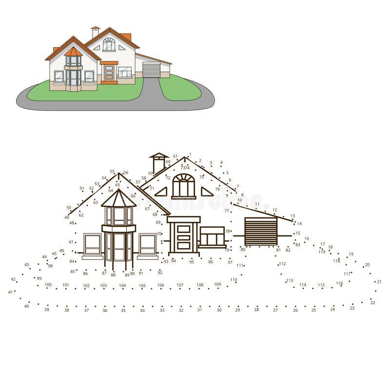 Trek vectorillustratie van het huis de onderwijsspel vector illustratie