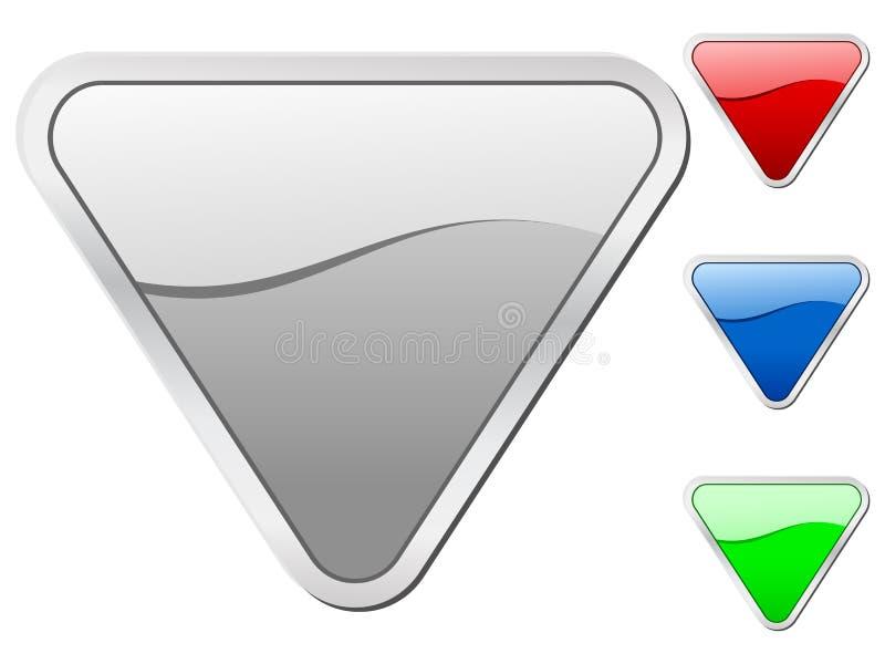 trekantiga symboler royaltyfri illustrationer