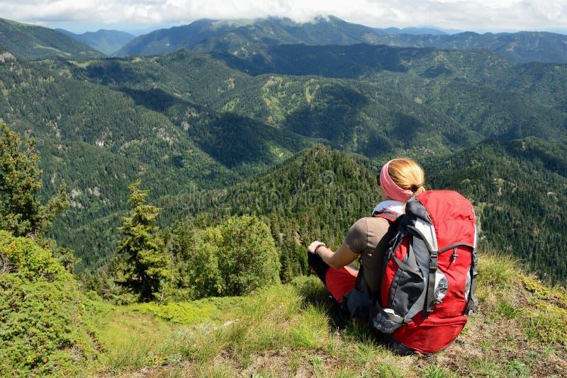 Treking para Lesser Caucasus fotos de archivo