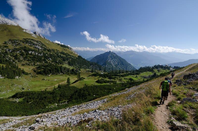 Treking in Rofan Alps, The Brandenberg Alps, Austria, Europe royalty free stock photo