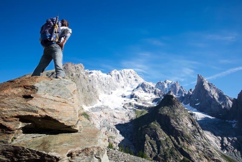 Trekker royalty free stock images