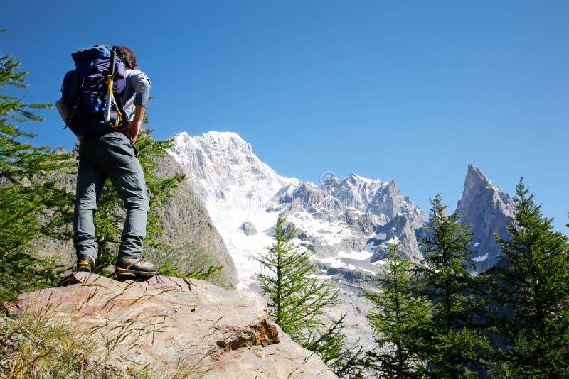 Trekker fotografia stock