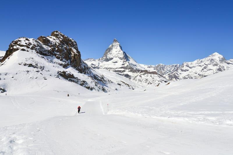 Trekking à Matterhorn images libres de droits
