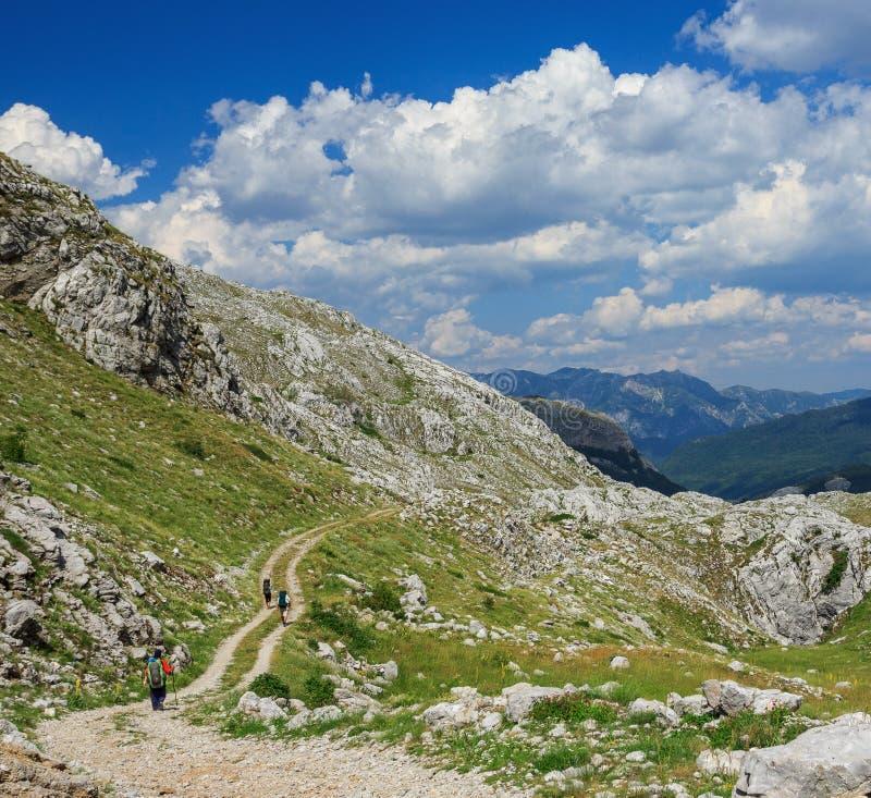 Trekking в горах стоковое изображение