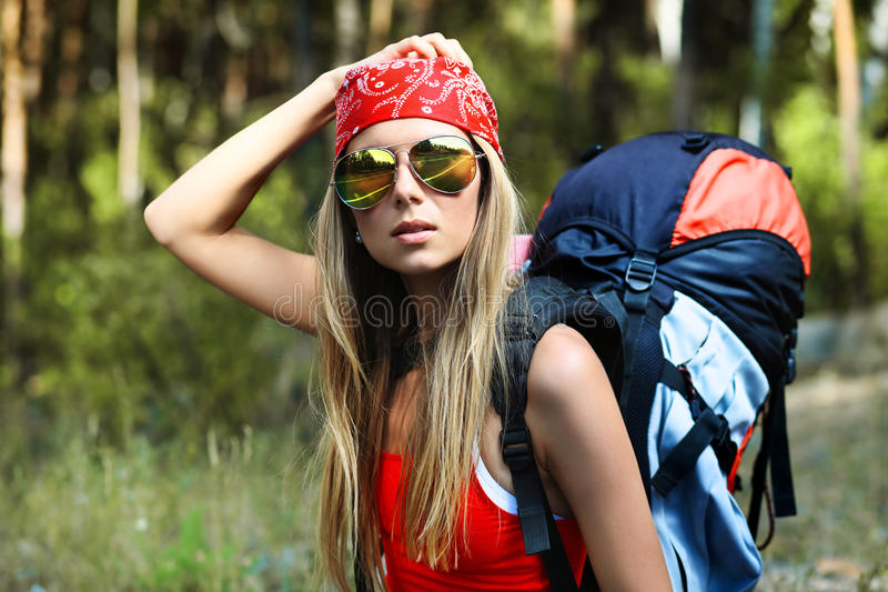 Trekking royalty free stock image