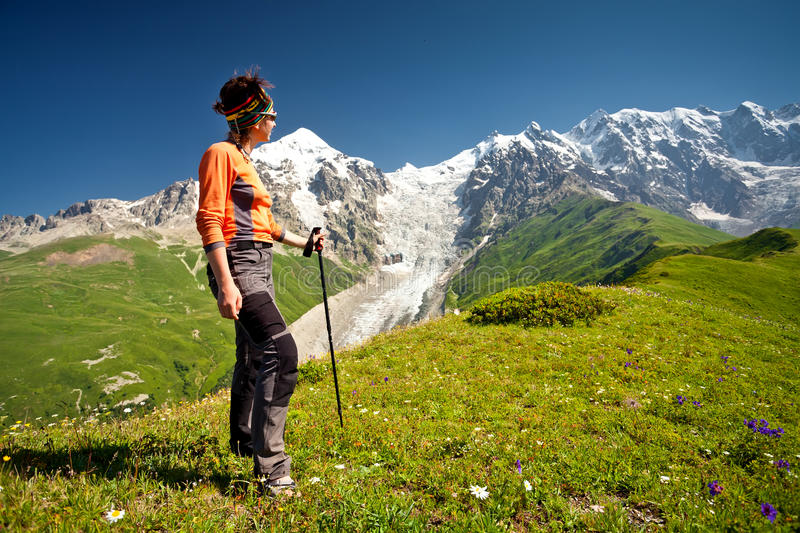 Trekking photo stock