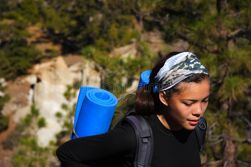 Trekking. The picture is from, Tenerife, Spain royalty free stock photos