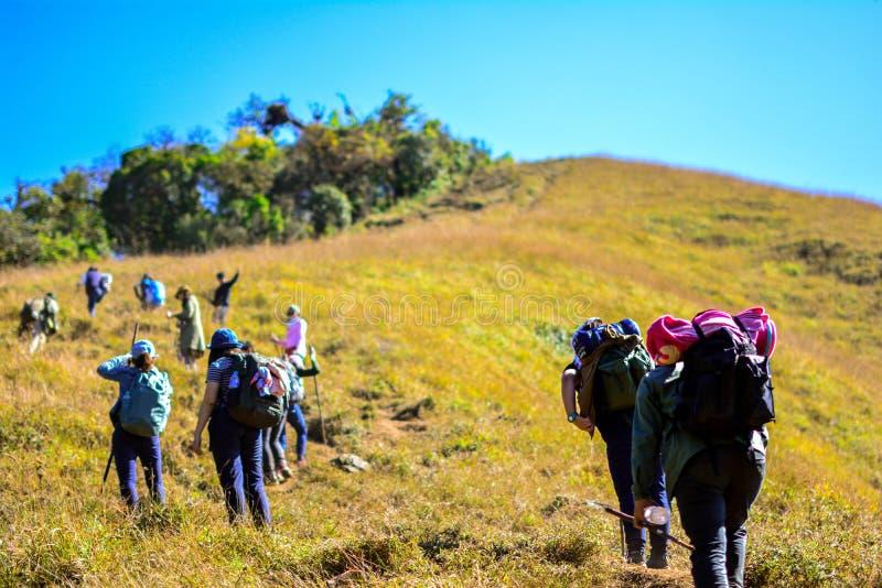 trekking immagine stock