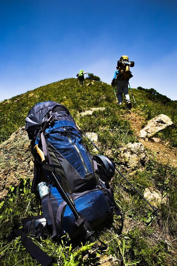 Trekking stockfoto