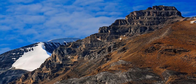 Trekking In The Alberta Rockies royalty free stock photography