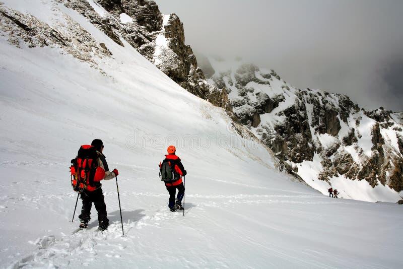 Trekking alpino fotos de stock royalty free