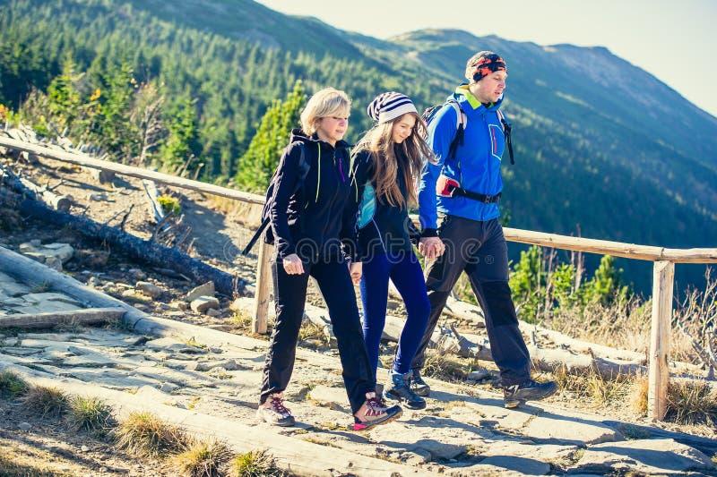 Trekking in Bergen royalty-vrije stock foto's