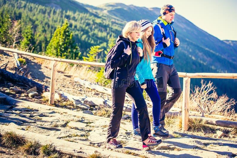 Trekking in Bergen royalty-vrije stock afbeeldingen