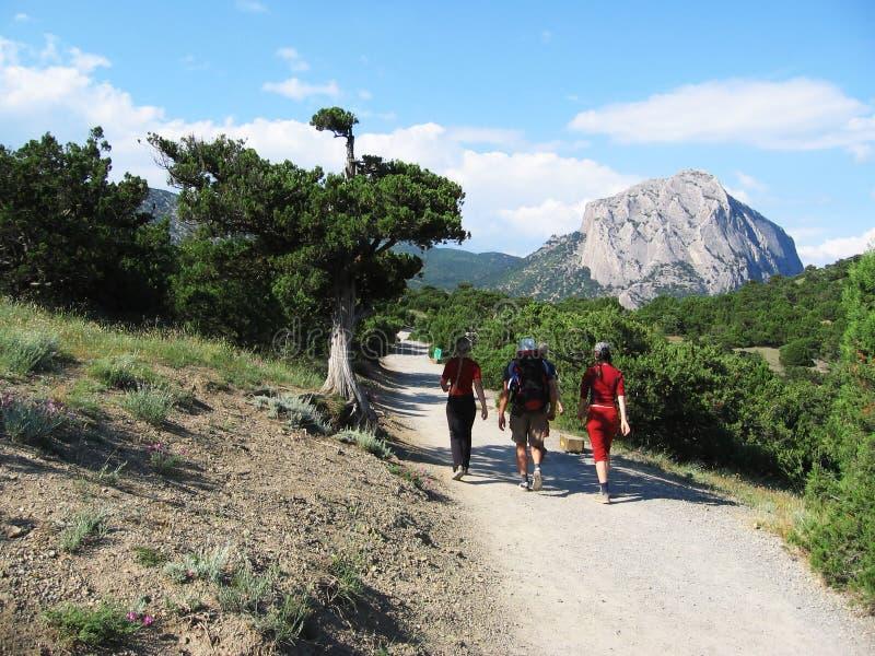 Trekking in Crimea immagini stock libere da diritti