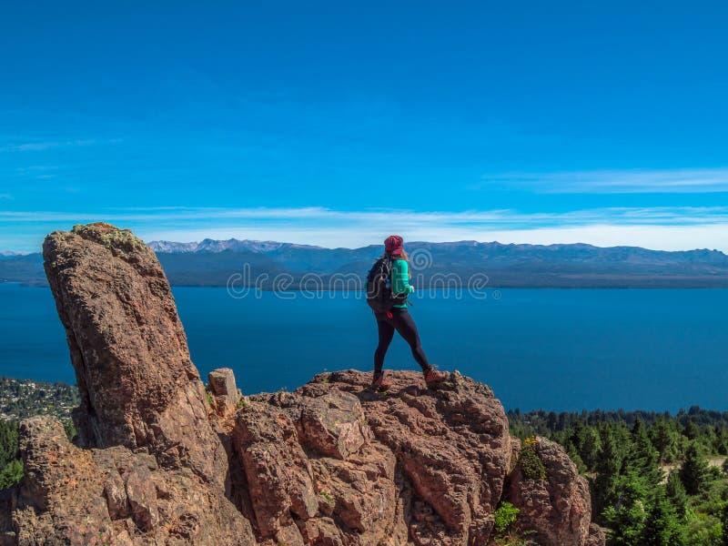 Trekking dans le Patagonia images libres de droits