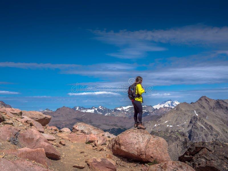 Trekking dans le Patagonia image libre de droits