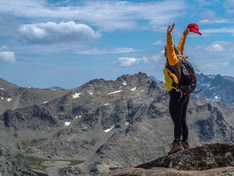 Trekking dans le Patagonia photo stock