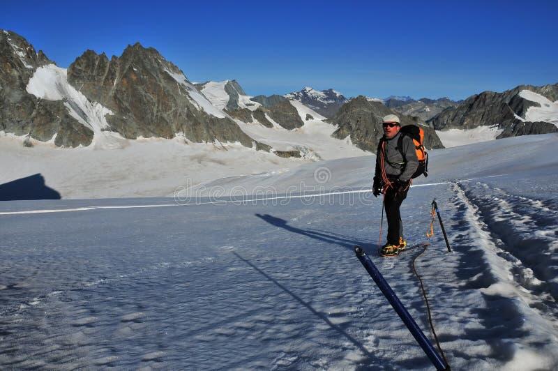 Trekking de glacier photographie stock libre de droits