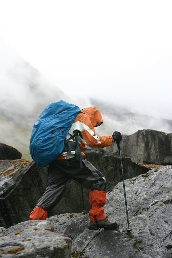 Trekking de l'Himalaya photographie stock libre de droits