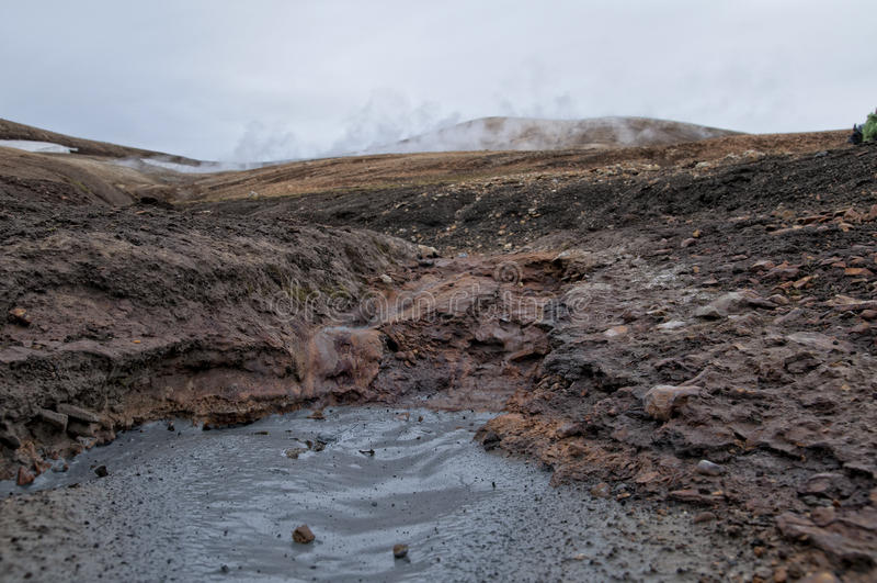 Trekking de l'Islande Landmannalaugar - du Posmork images libres de droits