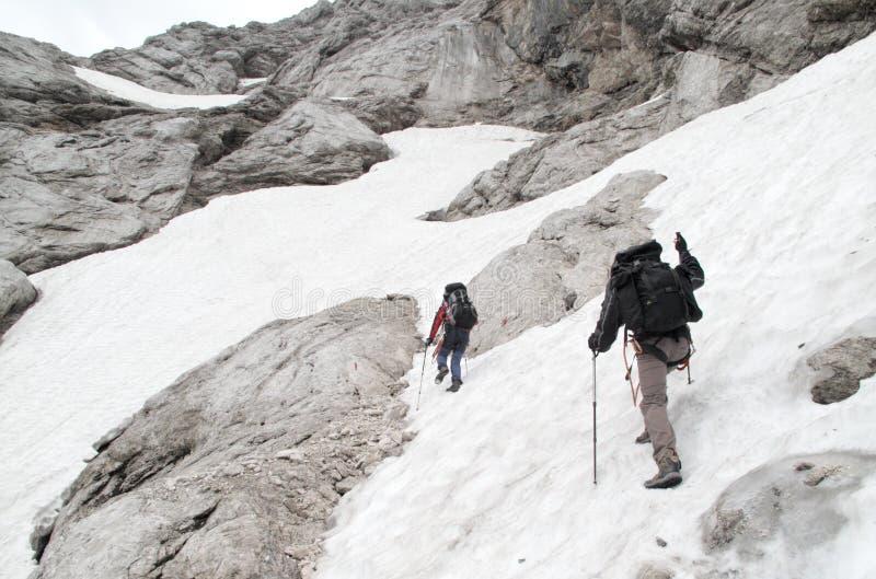 Trekking in den julianischen Alpen lizenzfreie stockbilder
