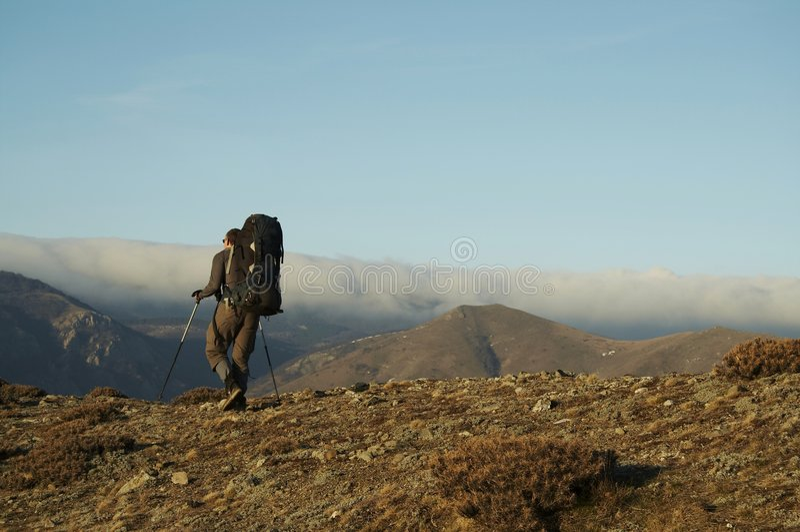 Trekking in der Krim lizenzfreie stockbilder