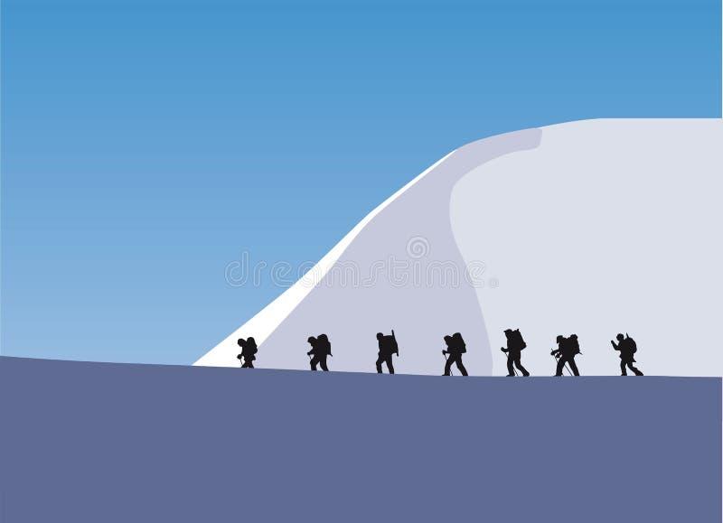 Trekking em uma geleira