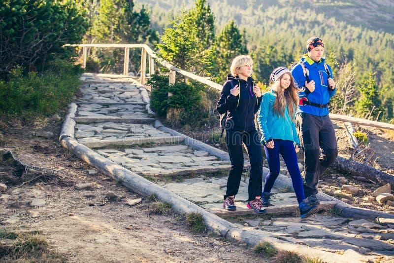 Trekking en montagnes photographie stock