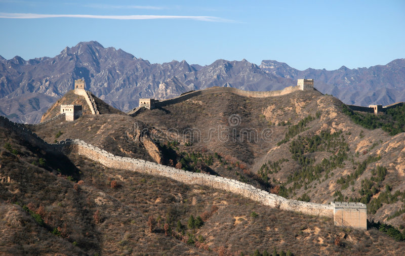 Download Trekking on Great Wall. stock image. Image of asia, protection - 5231969