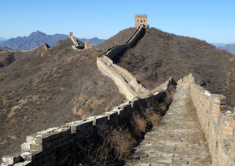 Download Trekking On Great Wall. Royalty Free Stock Image - Image: 5231976