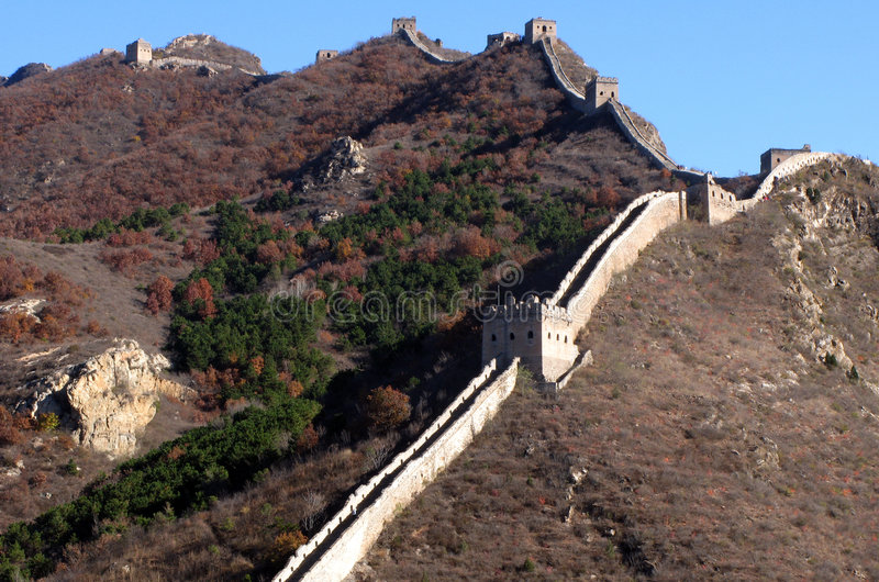 Download Trekking on Great Wall. stock photo. Image of hill, great - 5231994