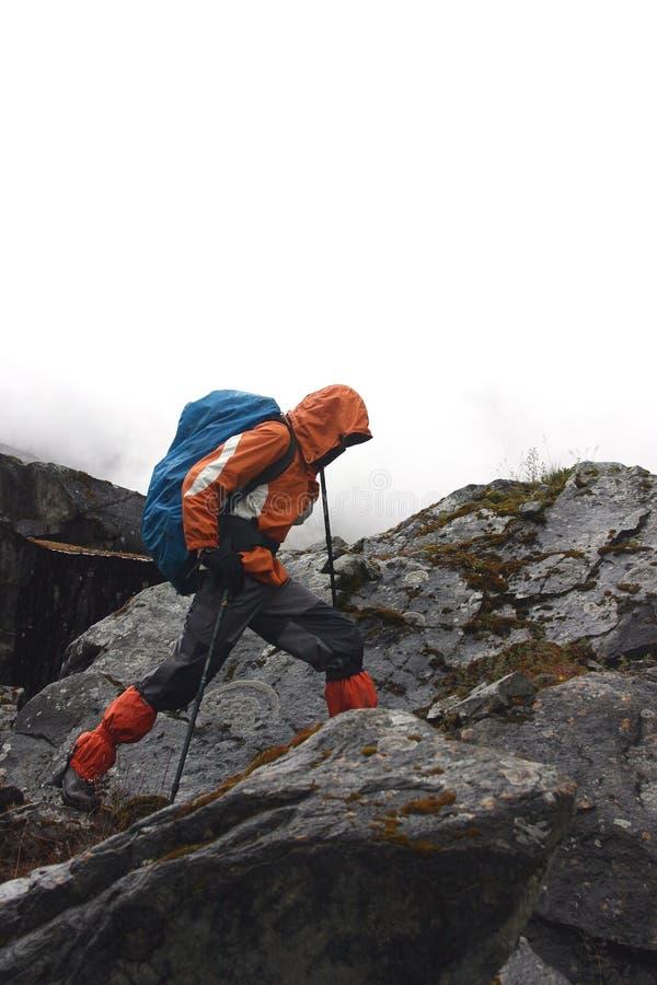 Trekking Himalayan fotografia stock libera da diritti