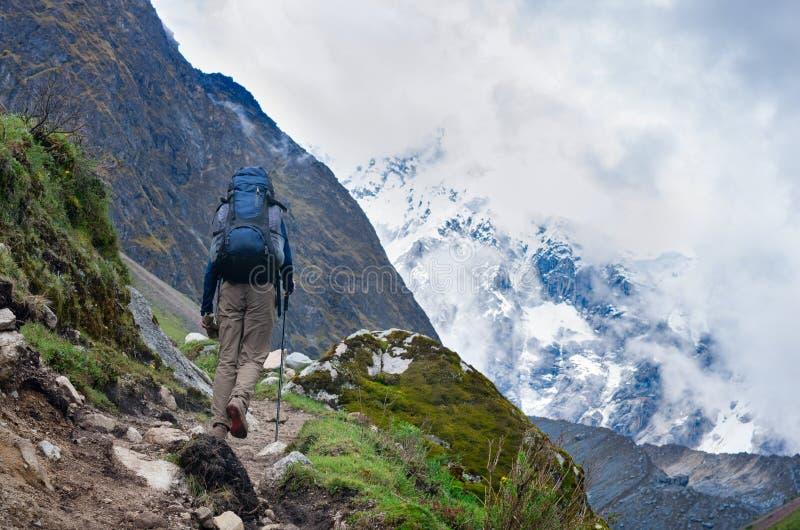Trekking i berg, Peru, royaltyfria foton