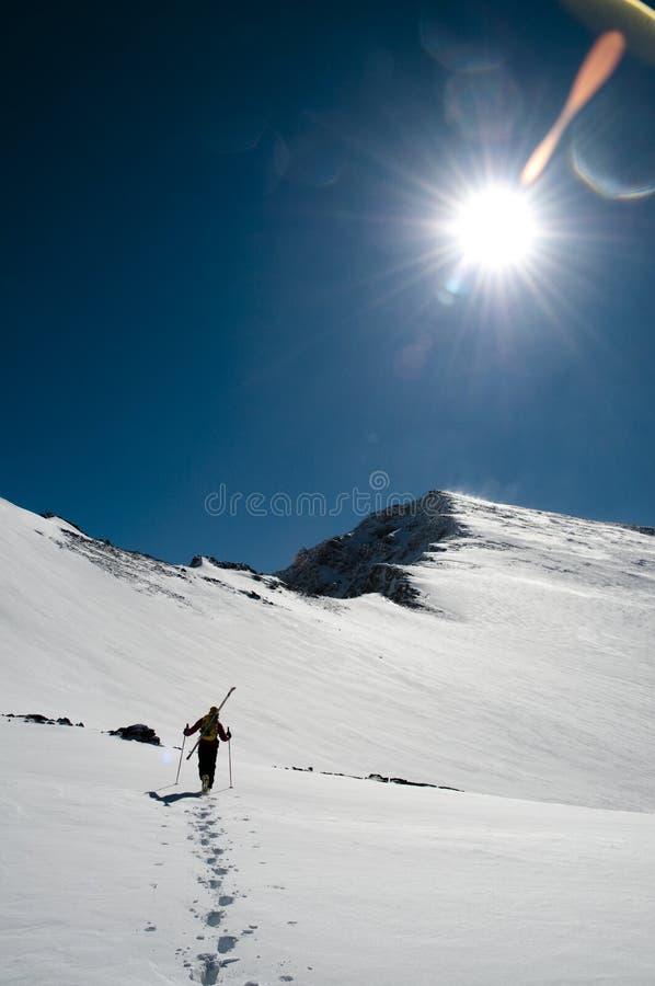 Trekking i Sierra Nevada, södra Spanien royaltyfri fotografi