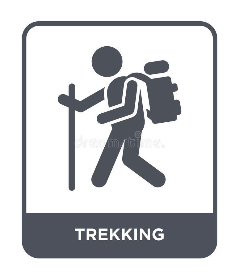trekking ikona w modnym projekta stylu trekking ikona odizolowywająca na białym tle trekking wektorowej ikony prosty i nowożytny  ilustracja wektor