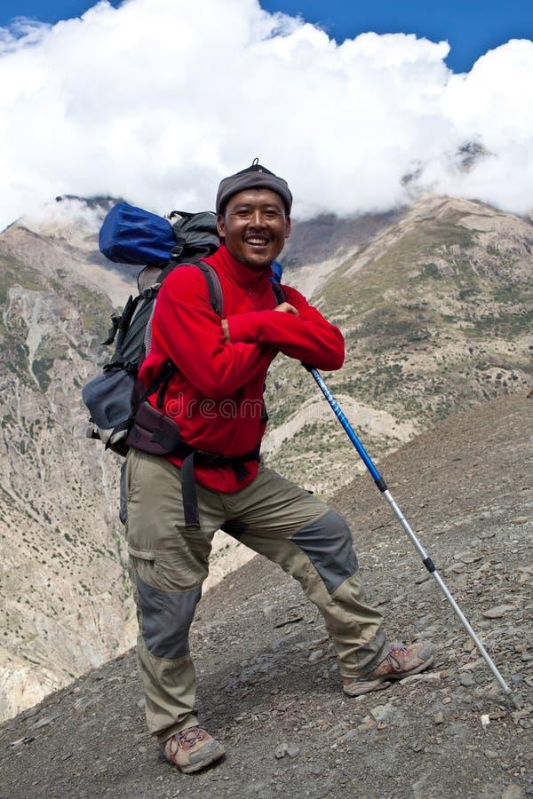 Trekking im Dolpa Bereich, Ostnepal stockfotografie