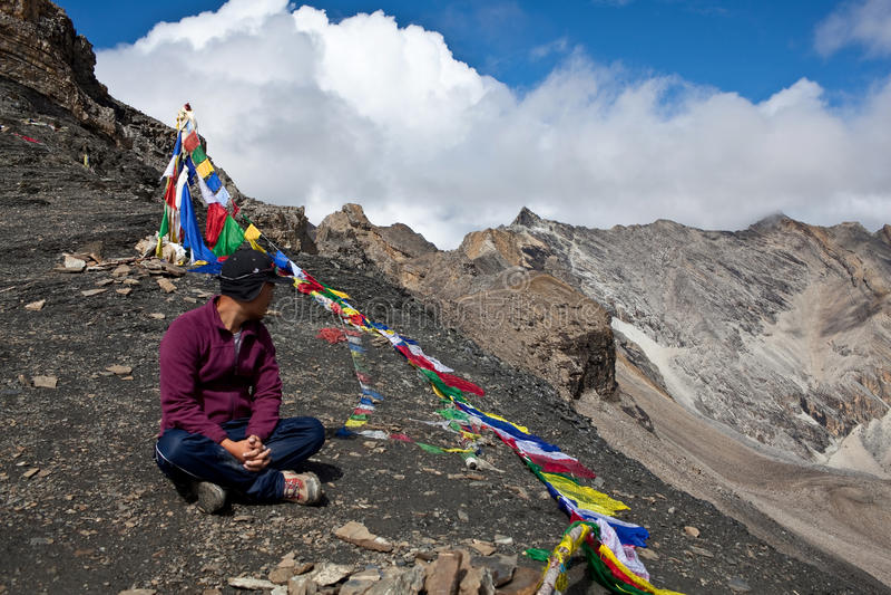Trekking im Dolpa Bereich, Westnepal stockbild