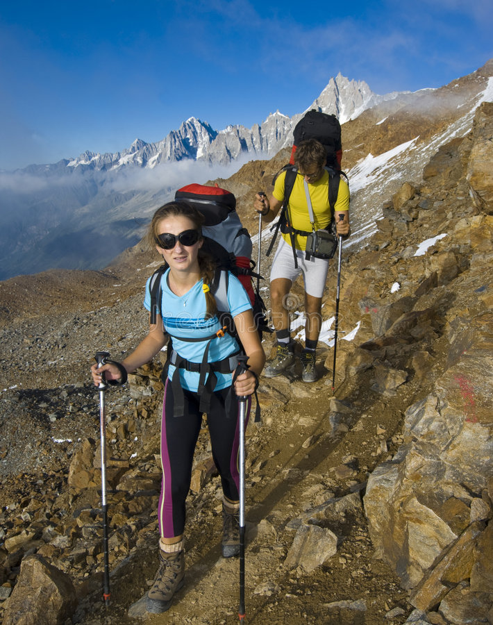 Free Trekking In Alps Mountains Royalty Free Stock Photography - 6534507